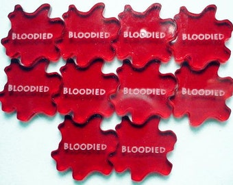 Fantasy RPG Bloodied Tokens, Set of 10 - LITKO Game Accessories