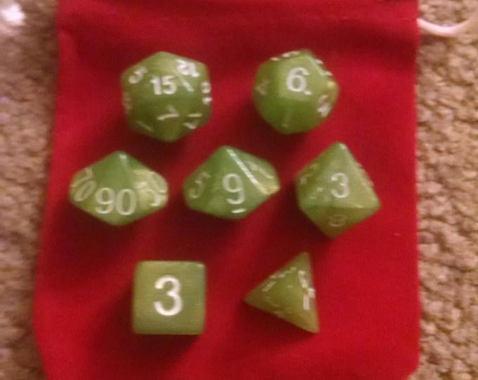 Green Apple - 7 Die Polyhedral Set