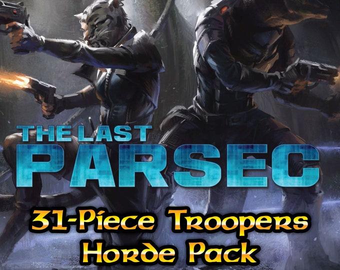Flat Pack Miniatures: The Last Parsec - Troopers Horde Pack - ArcKnight