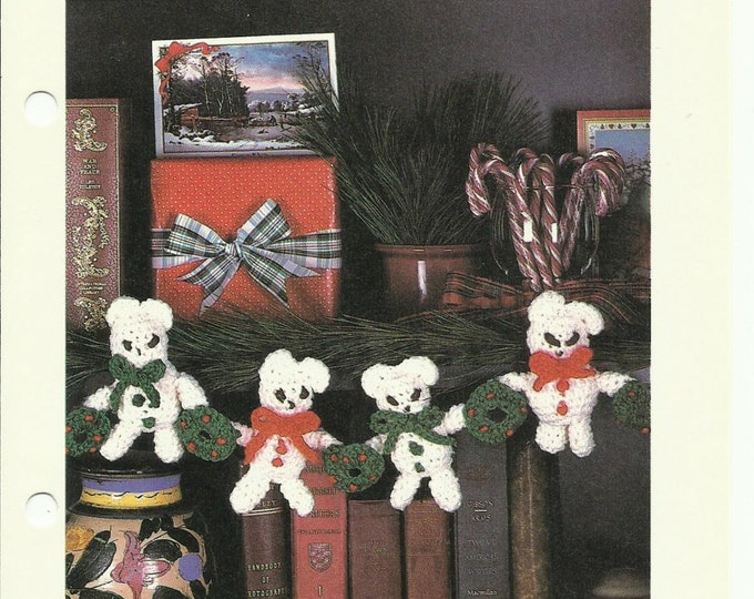 Garland of Bears holiday crochet pattern digital download