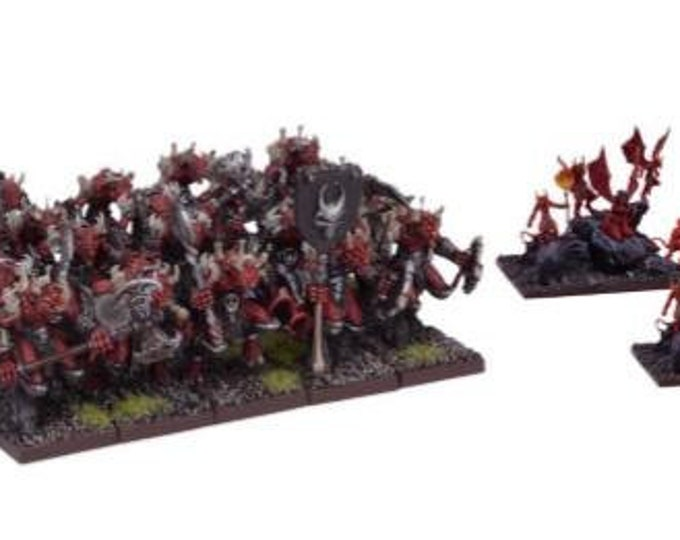 Kings Of War: (Forces Of The Abyss) Lower Abyssals Regiment - Mantic Games