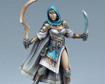 DSM7494: Visions In Fantasy - Female Eastern Warrior - Dual Wield - Dark Sword Miniatures