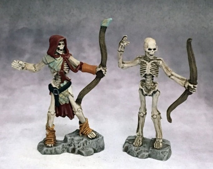 03755: Skeleton Archers (2) - Reaper Miniatures
