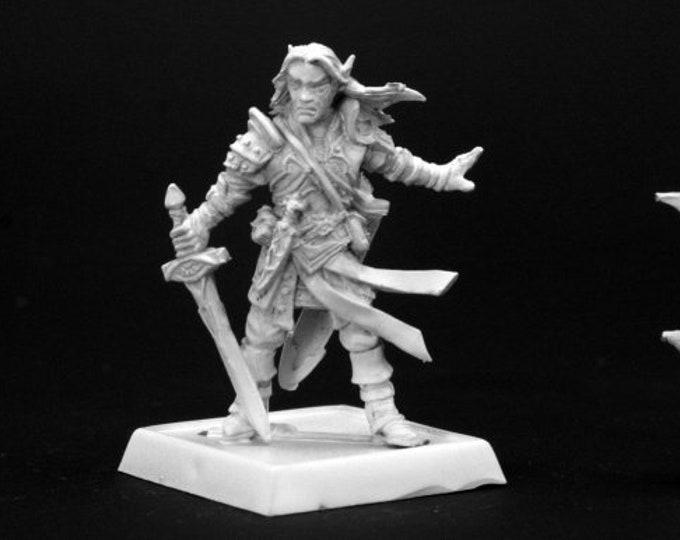 60005: Arael, Half Elf Cleric - Reaper Miniatures