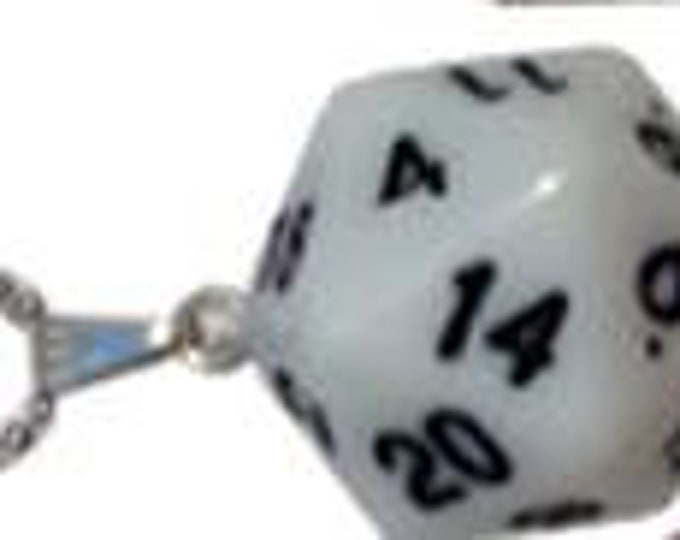 D20 Necklaces: White - MET9010 - Metallic Dice Games