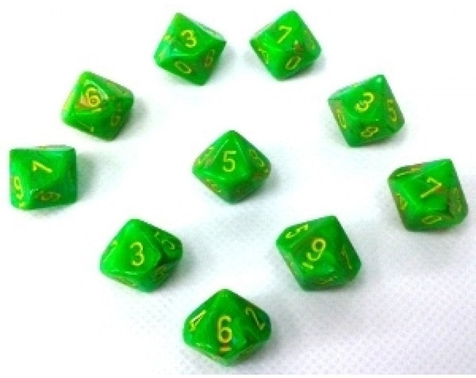 10d10 Vortex: Slime/Yellow - CHX27315 - Chessex