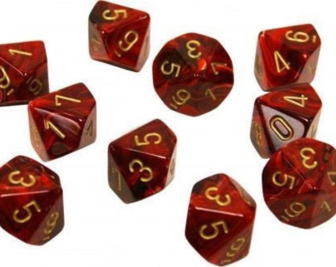 10d10 Vortex: Burgundy/Gold - CHX27234 - Chessex