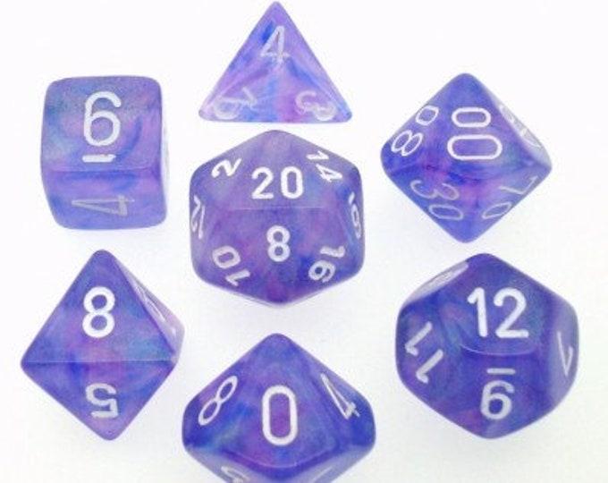 7-Die Set Borealis: Purple/White - CHX27407 - Chessex