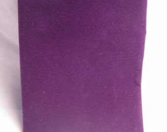 Dice Bags: Velour Pouch Bag - Small Purple (4in x 6in)