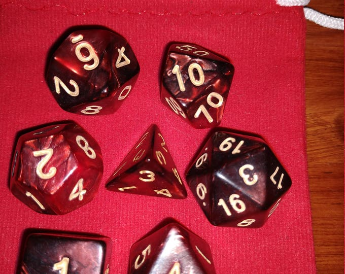 Infernal - 7 Die Polyhedral Set with Pouch