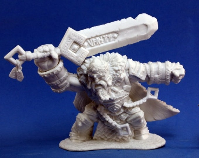 77101: Skorg Ironskull, Fire Giant King - Reaper Miniatures