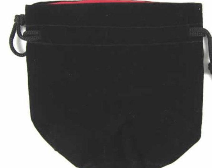 Dice Bags: Velvet Pouch Bag - Black (3in x 4.5in)