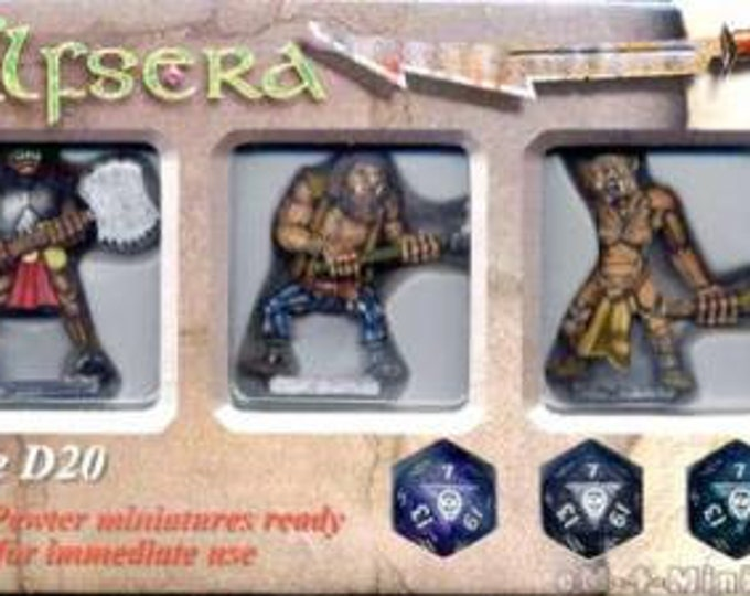 Elfsera Miniatures Giants Set (3) Solid Pewter, Fully Painted - 40280 - Crystal Caste