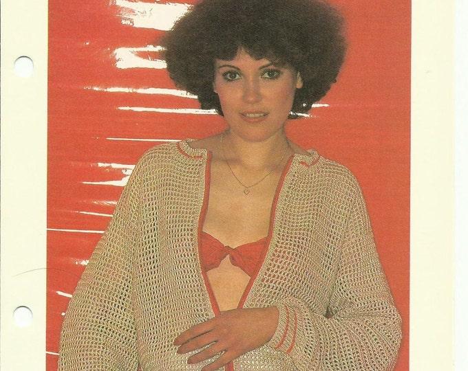 Beach cardigan vintage crochet pattern download pdf