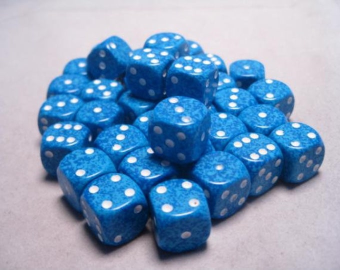 Water Speckled 12mm d6 (36) - CHX25906 - Chessex