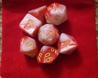 Peppermint - 7-Die Polyhedral Dice Set