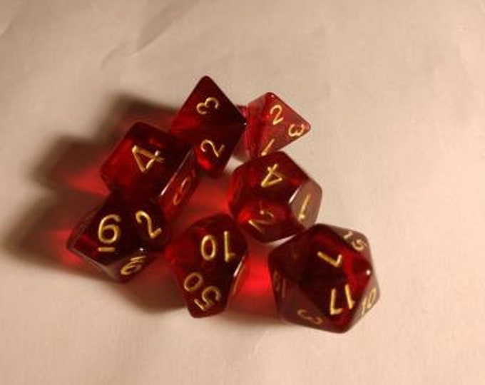 Bloodgold - 7 Die Polyhedral Set