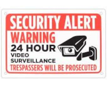 "Security Alert Sign 18"" x 12"" - Bolthead Industrial"