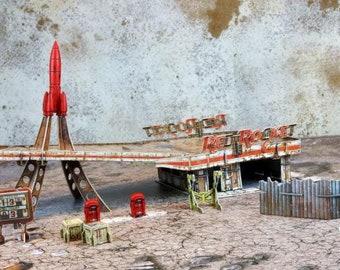 Fallout: Wasteland Warfare - Red Rocket Scenic Set - Modiphius Entertainment