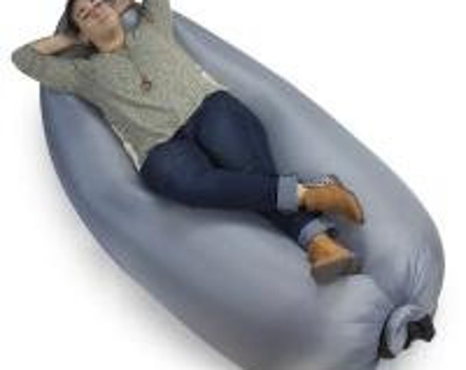 Inflatable Camping Couch, Slate - Grizzly Peak