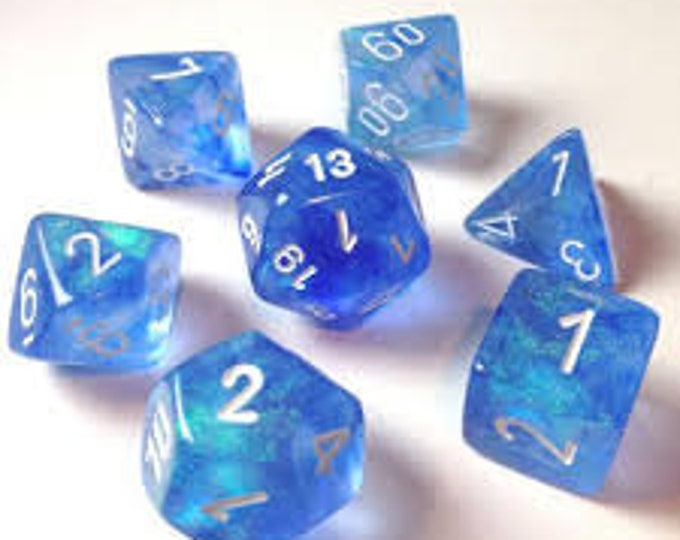 7-Die Set Borealis: Sky Blue/White - CHX27426 - Chessex