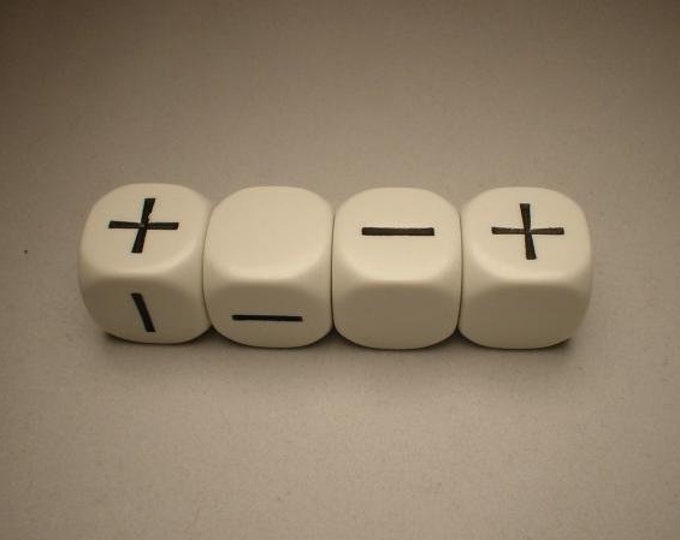 Fudge Dice: White - GGG9004W - Grey Ghost Press