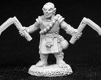 Reaper 02709: Biff, Halfling Monk 28mm Dark Heaven Legends Metal Miniature - Reaper Miniatures