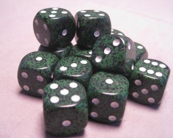 Recon Speckled 16mm d6 (12) - CHX25725 - Chessex