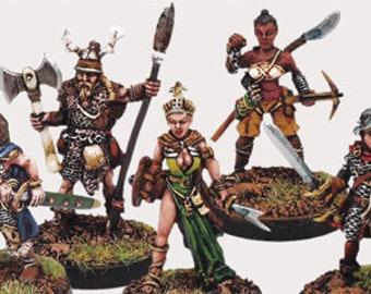 Backorder: Elfsera Adventures Miniatures Set #2 (5) Solid Pewter, Fully Painted - 40511 - Crystal Caste