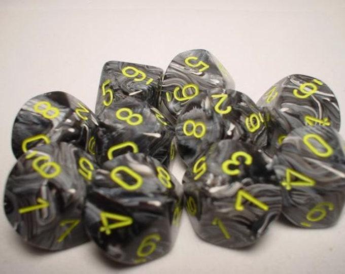 10d10 Vortex: Yellow/Blue - CHX27232 - Chessex