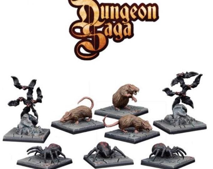 Dungeon Saga: Dungeon Critters Miniature Set - Mantic Games