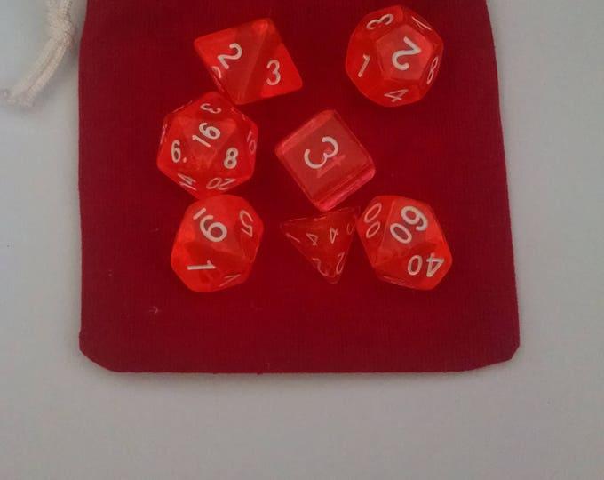 Orange Juice - 7 Die Polyhedral Set