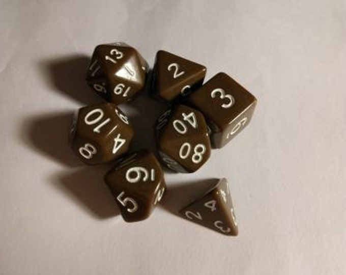 Dirt Road - 7 Die Polyhedral Set