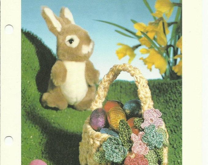 Easter Basket vintage crochet pattern pdf download