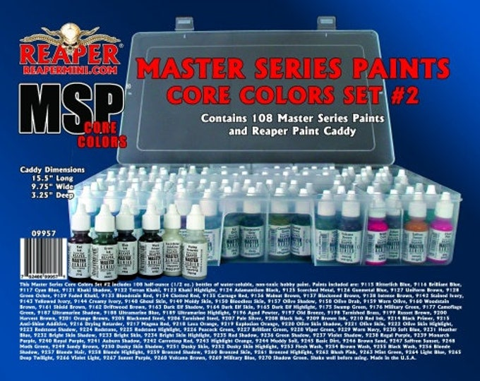 Reaper 09957: Master Series Core Colors Set #2 - Reaper Miniatures