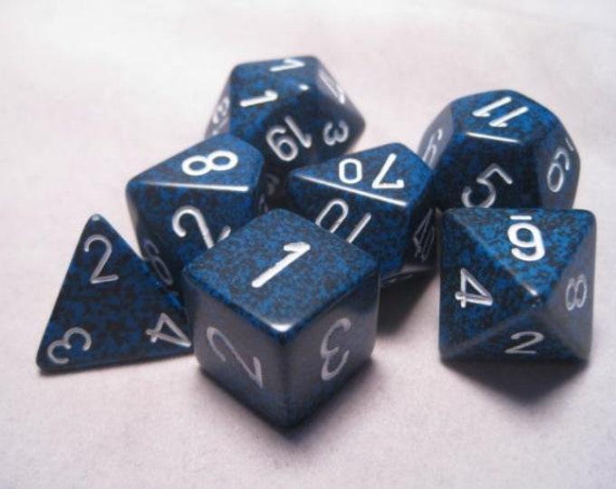 Stealth Speckled Polyhedral 7-Die Set - CHX25346 - Chessex