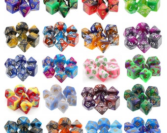 HDDice Blended 7 Die Polyhedral Dice Set Pack (20 Sets) - Purchasing Cooperative