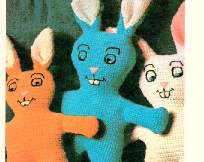 Crochet Bunny amigurumi  single crochet pattern download EASY and CUTE
