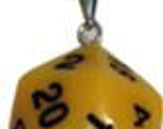 D20 Necklaces: Yellow - MET9016 - Metallic Dice Games