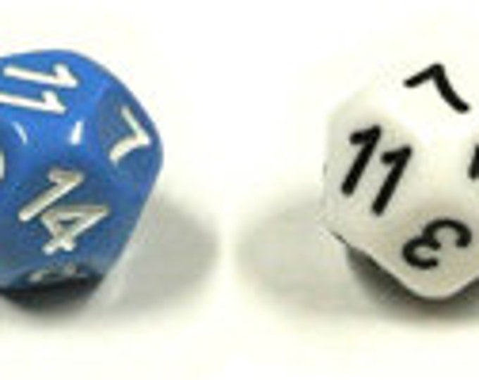 Unusual Dice - d14 Cuboctahedral Fourteen-Sided Die