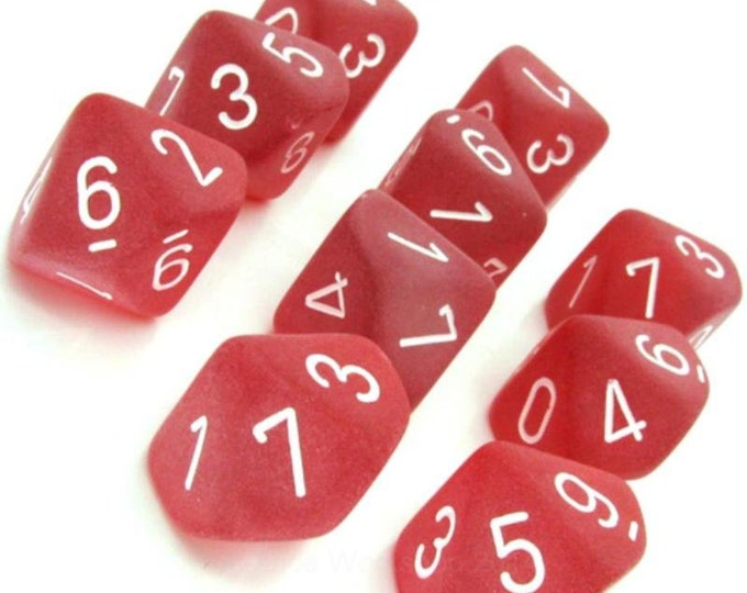 10d10 Frosted: Red/White - CHXLT427 - Chessex