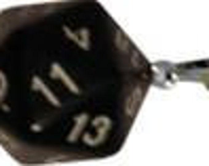 D20 Necklaces: Black - MET9013 - Metallic Dice Games