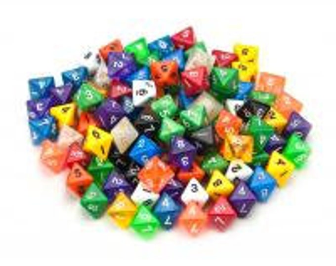WizDice 100+ Pack of Random D8 Polyhedral Dice in Multiple Colors