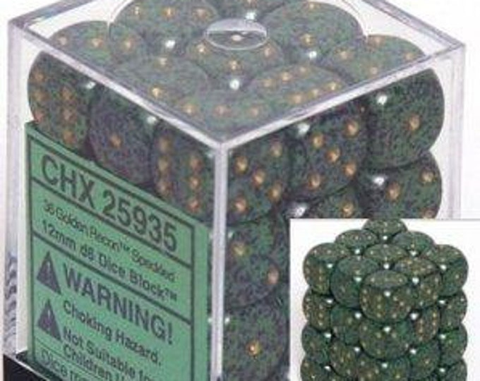 Golden Recon Speckled 12mm d6 (36) - CHX25925 - Chessex