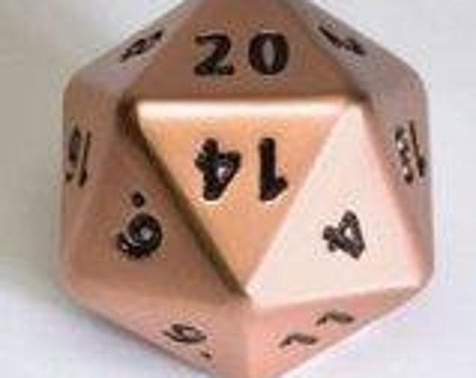 Backorder: Dwarven Metal Giant d20 Die (brushed Copper) 35mm - 02019 - Crystal Caste