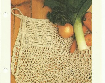 Handy Tote crochet pattern digital download eco friendly market bag