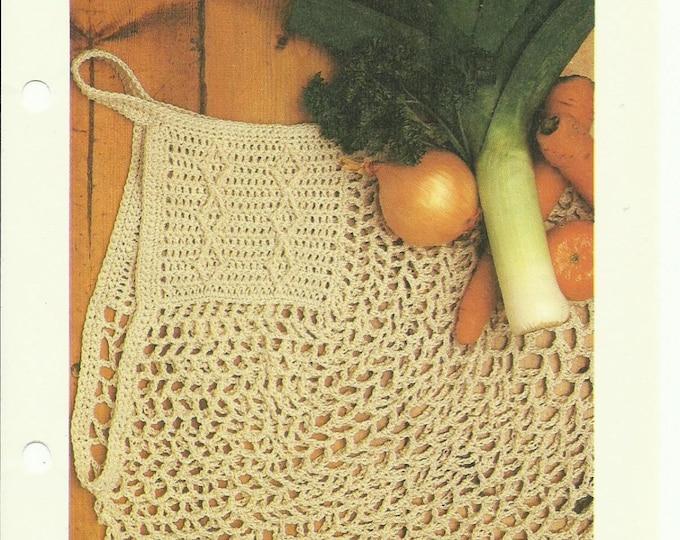 Handy Tote crochet pattern digital download eco friendly market bag