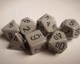 Dark Grey/Black Opaque Polyhedral 7-Die Set - CHX25410 - Chessex