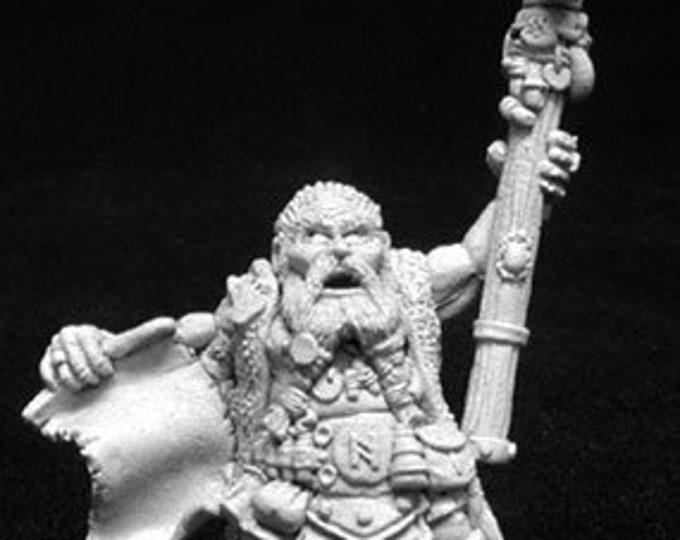 02707: Odum Rumblebeard, Dwarf Wizard - Reaper Miniatures