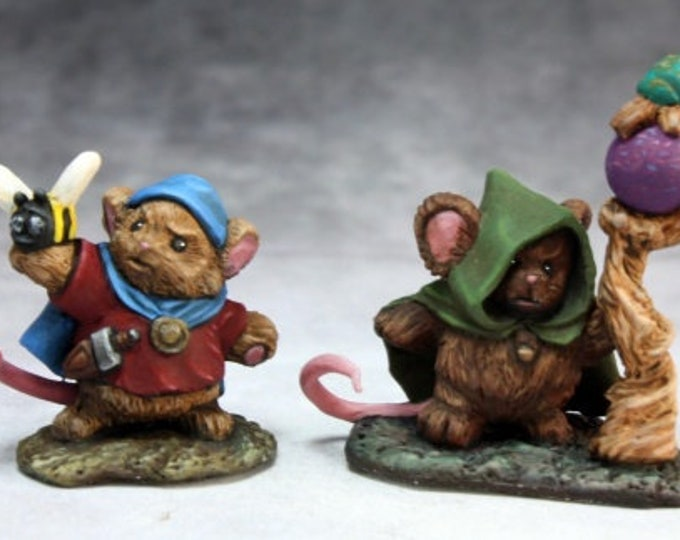 Mousling Druid and Beekeeper - 03744 - Reaper Miniatures
